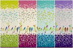 Echino Fall 2009 by Etsuko Furuya, birdsong Echino, Portfolio Site, Japanese Fabric, Kids Rugs, Birds, Quilts, Sewing, My Love, Fall