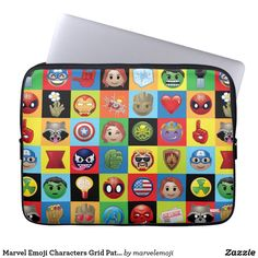 Shop Marvel Emoji Characters Grid Pattern Sleeve For MacBooks created by marvelemoji. Neoprene Laptop Sleeve, Laptop Sleeves, Emoji Characters, Emoji Patterns, Galaxy Pattern, Computer Sleeve, Green Goblin, Custom Laptop