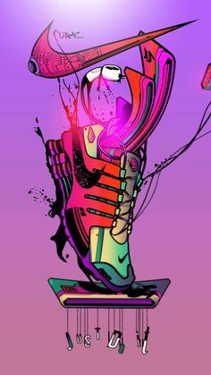 Get Good Nike Wallpapers for iPhone XS Now! Dope Wallpaper Iphone, Hypebeast Iphone Wallpaper, Supreme Iphone Wallpaper, Cartoon Wallpaper, Cool Nike Wallpapers, Desenho New School, Sneakers Wallpaper, Dope Cartoon Art, Sneaker Art