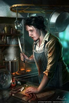 Zoe, the Innsmouth cook by *henning on deviantART