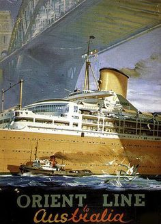 ORCADES in Sydney Cruising Line History: The Orient Steam Navigation Company, also known as t...