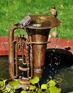 1000 Images About Recycled Garden Fountains On Pinterest