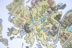 Scotland Map Illustration by Emseeitch #scotland #map