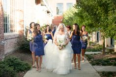 """""""Elegant Navy and White North Carolina Wedding"""" from Every Last Detail - lkm*Calligraphy did the calligraphy for the food items and escort cards"""