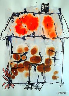 ARTMIABO: HOUSES IN A BLIZZARD ABSTRACT BY MIABO ENYADIKE