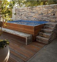 patio designs with hot tub Ideas Backyard Pool Above Ground Hot Tubs For 2019 Hot Tub Backyard, Small Backyard Pools, Small Pools, Backyard Patio Designs, Swimming Pools Backyard, Swimming Pool Designs, Small Patio, Pool Landscaping, Backyard Ideas
