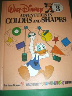 WALT DISNEY ADVENTURES IN COLORS AND SHAPES ~ HB BOOK #Kids #Book