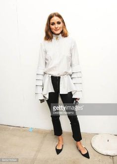Olivia Palermo poses backstage for Jonathan Simkhai fashion show during New York Fashion Week The Shows at Gallery 1 Skylight Clarkson Sq on...