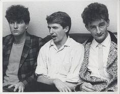 Brothers Tim and Neil Finn with Noel Crombie, all three are members of Split Enz