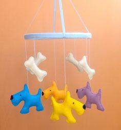 dog crib mobile-Scotch Terrier felt toy-baby crib by ZooToys