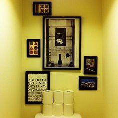 Bathroom,トイレットペーパーロール,額,IKEA,アート,ジャンク,トイレ,ブルックリン,ミックスインテリア,カリフォルニアスタイル,海外インテリアに憧れる manahana8の部屋