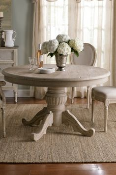 Rustic Round Kitchen Table dining table - restoration hardware distressed elm trestle dining