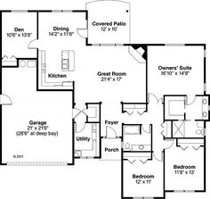 One Story Houses on Pinterest | One Story Houses , House plans and ...