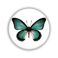 Butterfly Pocket Mirror Butterfly Design, Blue Butterfly, Bee Design, Pocket, Mirror, Gifts, Presents, Bowtie Pattern, Mirrors