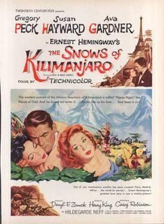 (1952) ____________________________ https://en.wikipedia.org/wiki/The_Snows_of_Kilimanjaro_(1952_film)