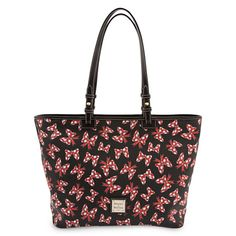Minnie Mouse Bow Shopper Tote with Wristlet Bag by Dooney & Bourke - Black