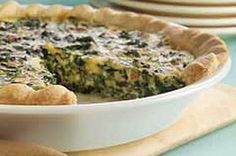 Spinach Quiche recipe..I made this..I used three eggs, fresh baby spinach and hand chopped and used a deep dish pie dough...it was delicious and quick!