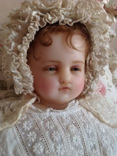 A very beautiful Pierotti portrait baby, made even more special by coming from the private doll collection of someone kind and generous.