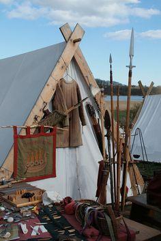 Vikings:  #Viking festival camp.
