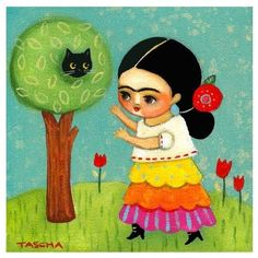 Frida Kahlo-inspired art for a baby's nursery or a kid's bedroom! Love this print from Etsy!