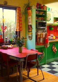 sala de jantar kitsch