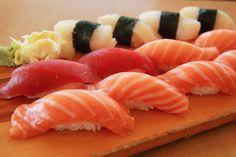Salmon, Tuna, & White Tuna Sushi