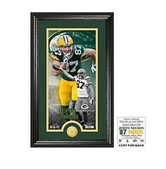 "NFL® Green Bay Packers Jordy Nelson ""Supreme"" Bronze Coin Panoramic Photo Mint"