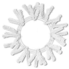 "24"" White Deco Mesh Work Wreath - Deco Mesh - (XX7488W4)"