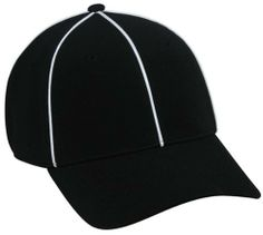 """NFL FLEX-FITTED ADULT UMPIRE/REFEREE Hat Cap Md/Lg Black/White Pin Stripe Official by Authentic Sports Shop. $18.99. We are your team supplier with team qtys available. Another popular seller with retail of $29. Great for all leagues. ?6 panel ?Structured ?(B)Pro Style Mid Crown Profile ?Premium Polyester/Spandex ?Stretch Fit ?Black Undervisor ?Q3® Fabric and Sweatband ?White Piping Along All Panel Seams ?2 3/4"""" Pre-curved Visor Adult."""