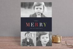 Name in Brights Christmas Photo Cards by kelli hall at minted.com