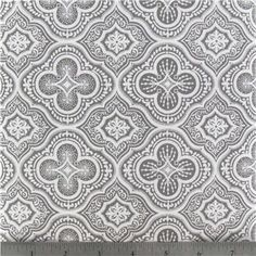 Gray and white Moroccan tonal fabric only $4.89 per yard | House Of Thrift