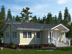Одноэтажный дом из бруса 8х12,5 (Проект ДБ-1)