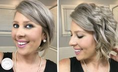 6 Easy Hairstyles for Short hair - Messy waves, Short hair can be so much fun when you get comfortable experimenting. Here are 6 cute and easy hairstyles for short hair!