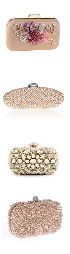 Champagne evening clutch bag! Stunning beaded sparking elegant clutches for any occasion. Click on the pictures to see them all