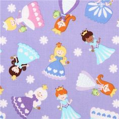 purple ice princess fabric with silver glitter Timeless Treasures 1