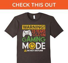 Mens 25th Birthday Gift Shirt 25 Years Old in Gaming Mode Gamer Medium Asphalt - Gamer shirts (*Amazon Partner-Link)