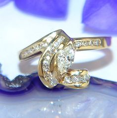 exclusiver neuw. Diamantring  Brillantring Goldring Ring  585 GOLD / 14 kt