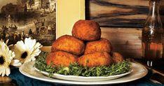 Ce soir, vous n'aurez besoin que de 25 minutes pour préparer le souper! Cuisinez des arancinis à partir d'un restant de risotto et servez le tout accompagné d'une salade verte! La recette parfaite qui plaira à toute la famille! Couscous, Baked Potato, Quinoa, Turkey, Potatoes, Chicken, Baking, Ethnic Recipes, Food