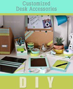 DIY Custom Desk Accessories