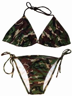 ede404e9989 Southern Sisters Designs - Woodlands Army Camouflage String Bikini (Top and  Bottom), $38.95