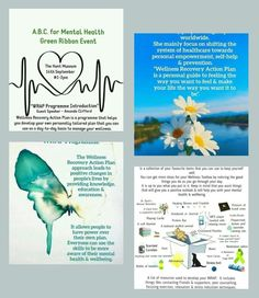 Wrap Program, Wellness Recovery Action Plan, Guest Speakers, Green Ribbon, Self Help, Health Care, Make It Yourself, How To Plan, Feelings