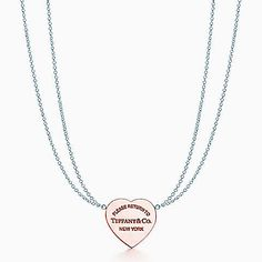 Return to Tiffany® heart pendant in silver and RUBEDO® metal, small.