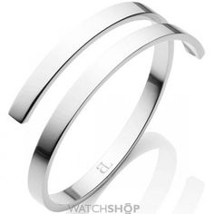 Ladies Abbott Lyon Silver Plated Polished Twirl Bangle AL3421