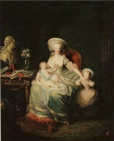 Southern Folk Artist & Antiques Dealer/Collector: Charles Emmanuel Leclerq, Marie Antoinette and her children, Louis Joseph, Dauphin of France and daughter Madame Royale overlooked by a bust of Louis XVI, Luís Xvi, Madame Du Barry, Maria Theresia, French Royalty, French History, French Revolution, Mother And Child, Joseph, Daughter