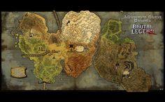 Video Game Brutal Legend Map Wallpaper