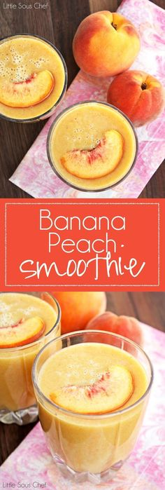 Easy Banana Peach Smoothie For more healthy recipes visit www.MarysLocalMar... Sustainable-Natural-Community #maryslocalmarket Red Dust Active - Functional. Fun. Stylish - active accessories made for active liefstyles - www.reddustactive.com