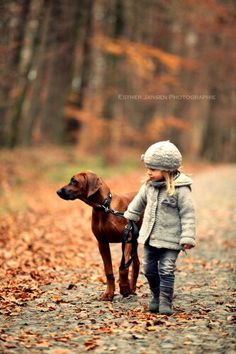 girl and dog. Her protection :)