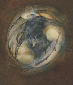 Raven Wolf by Susan Seddon Boulet