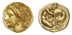 Greek Gold 100 Litrae of Syracuse (Sicily)  400 BC
