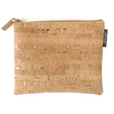 Pouch in our most popular cork fabric, Cork Dash Gold